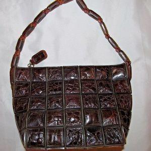 Vintage 30's croc and lucite Bakelite handbag rare